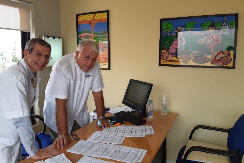 Dr Garen and Dr Sebban AEMC - Phnom Penh